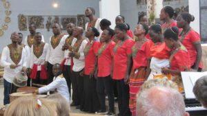 cachemcho-choir in Kümmersbruck beim Gottesdienst